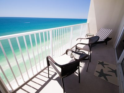 Photo for 21st Floor, Magnificent Views down the beach, 4 Reserved Beach Chairs/2 Umbrella