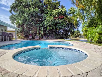Photo for Waterfront 5 Bedroom Tropical Oasis Close To Beach, Las Olas, & Wilton Manors