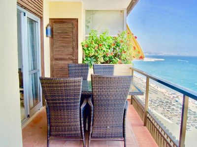 Photo for 3BR Fuengirola Promenade - First Line Beach Apartment with Panoramic Sea Views