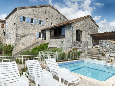 Photo for Mas of character in stone 8 to 15 people swimming pool and sauna