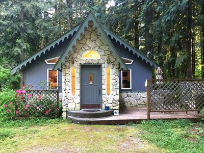 Photo for Glacier Springs Cabin #60 - The Enchanted Cottage with a hot tub!