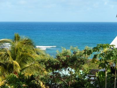 Photo for Bottom of Villa in Anse des Rochers with Beach, Sea View, Pool and Garden ...
