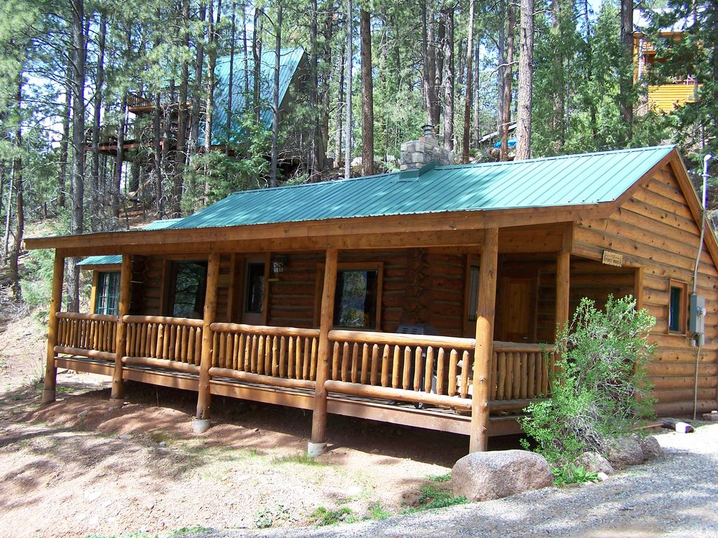 Log cabin in the woods by a lake -  Piney Woods Lake Front Log Cabin