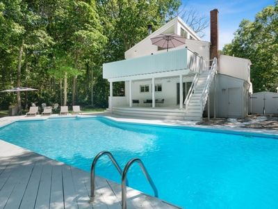 Photo for #PinkwoodPlayhouse. East Hampton. Renovated. Designer Decor. Pool. Sleeps 8.