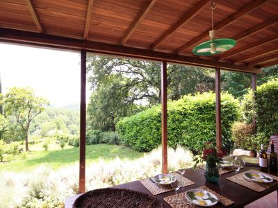 Photo for Restored Barn in Chianti property - with large pool, terrace, views, wi-fi