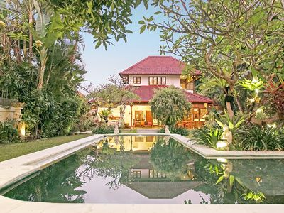 Photo for 3 BR Large Garden Oasis Heart Seminyak, Large Pool and garden, staff service