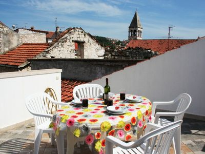 Photo for Apartment with great roof terrace right in the heart of Trogir Old Town