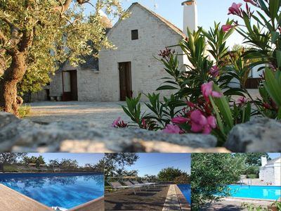 Photo for Lovely renovated trullo with garden, private pool and Wi-Fi