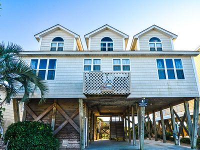 "Photo for Let your vacation begin with love - ""Algies Love""! Fabulous 5 Bedroom, 4.5 Bath Oceanfront Home In Quiet & Prestigious West End Of Holden Beach, NC!"