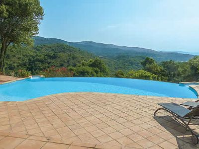 Photo for Elegant villa with mountain views w/ infinity pool, free Wi-Fi and BBQ