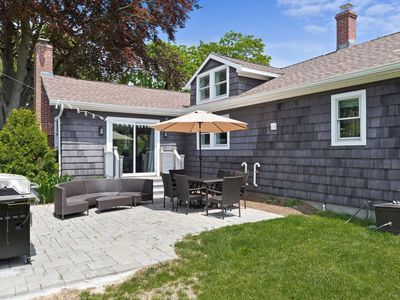 Photo for Beautiful Water Mill home with large fenced backyard, pool and dog-friendly too!