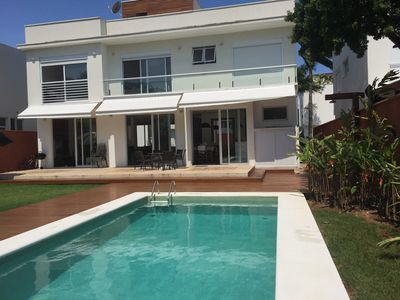 Photo for Wonderful House, cond walk in the sand, 4 suites, private pool, Mon 24 h!