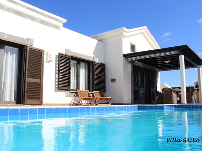 Photo for New! PRIVATE VILLA, JACUZZI, SALT POOL 30 ° C, PLAYA BLANCA LUXE