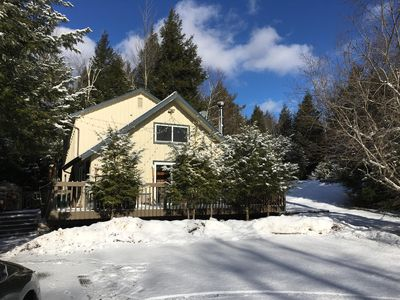 Photo for Secluded Ski Chalet in the Heart of the Catskills