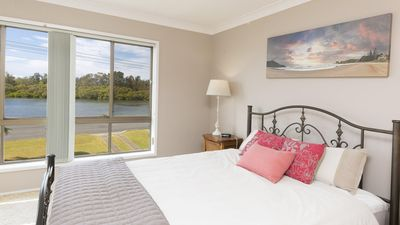 Photo for Waterfront at Point Road three bedroom family home with Wi-Fi just across from the lake