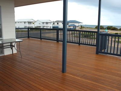 Photo for Uninterrupted ocean views from a large deck
