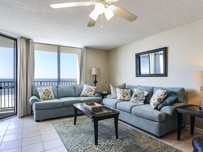 Photo for Affordable Beachfront Luxury Condo | Private Balcony Gulf View | My Beach Getaways