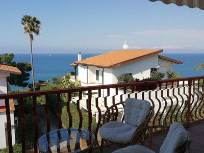 Photo for Apartment with sea view in a small complex with private beach at 150 meters.