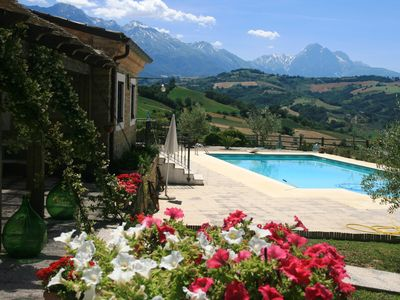 Photo for Absolutely beautiful 5 star historic farmhouse, stunning pool- unbelievable view