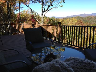 Photo for Black Mountain Secluded Home with Amazing Mountain Views and A Hot Tub!