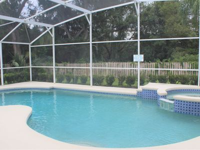 Photo for Lovely 3 bed 2 bath fenced pool and spa home overlooking conservation at Indian Ridge Oaks close to Disney