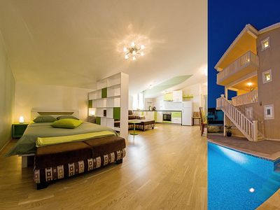 Photo for Elegant spot with pool and lovely sea view III