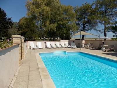 Photo for Charente farmhouse(3 star) & gite (12 and 4 pers.) with  pool & wooded garden