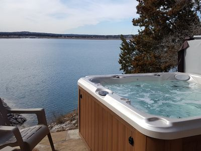 Photo for Waterfront Wishing Well Home with Hot Tub!