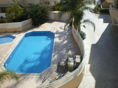 Swimming pool from balcony