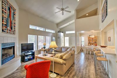 Your Pinetop adventures begin at this Mountain Pine Estates vacation rental.