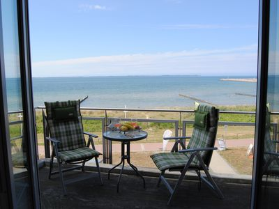 Photo for Exclusive apartment, 2 balconies, fireplace, beach, sea-views for. Kap Arkona