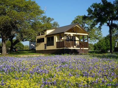 Photo for Tumbleweed tiny home on a gorgeous private lake in the Texas Hill Country