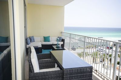 Large Balcony with Views of the Gulf and Comfortable Seating