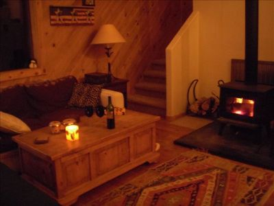 A cozy night at the fireside...