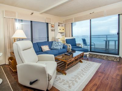 Photo for Two bedroom oceanfront condo, just two blocks to the boardwalk!