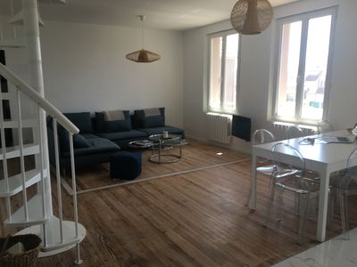 Photo for Appt downtown 100m sea in calm 3 ch with 1 mezzanine