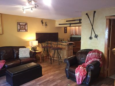 Photo for Ski-in Ski-out 2 Bedroom Condo Wifi, Large Living Room With Fireplace