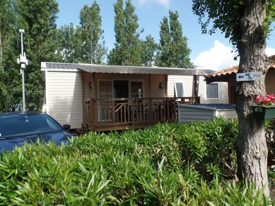 Photo for Air-conditioned mobile home new VIAS Beach Camping **** La Carabasse - Sea and pool