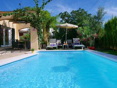 Photo for The pretty holiday home Oleanda is located in Alcudia, in the north of Majorca, and besti