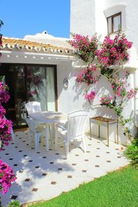 Beautiful terrace and garden