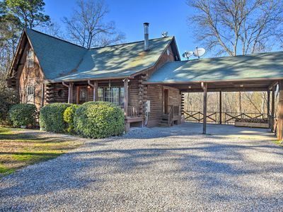 Photo for NEW! Private Luxury Log Cabin Near Hot Springs