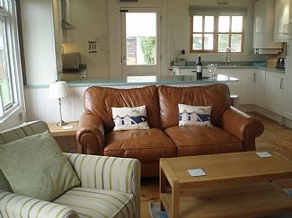 The bright open plan living area