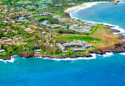 Fabulous view of the complex with Shipwreck Beach above!