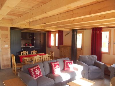 Photo for Le LONGET : Chalet de 7 places 120 m2