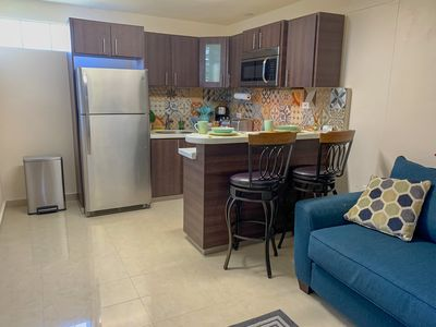 Photo for Remodeled apartment with patio and laundry