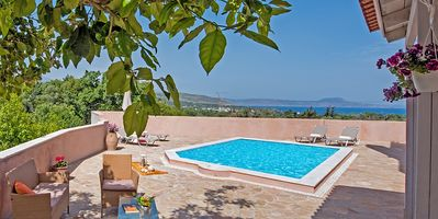 Photo for Brand new villa with unique sea views, pool, bbq, 3km to the beach!