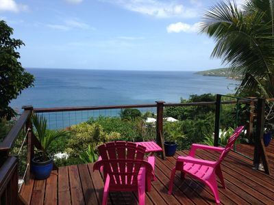 Photo for Independent studio with superb sea views and pool