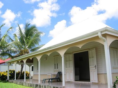 Photo for rare traditional Creole villa comfort 4 to 6 people in a quiet beach