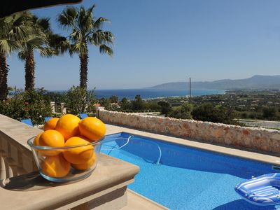 Photo for Luxurious 3 bedroom Villa with Spectacular Sea Views & 5 minutes drive to beach