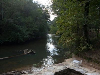 Photo for 100 Year Old  Cabin on the Chestatee River, wineries, tubing, fishing and more